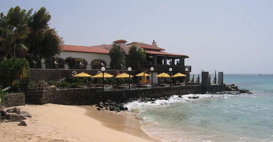 Fresh fish and locally-grown vegetables served with sea-views at the local restaurants