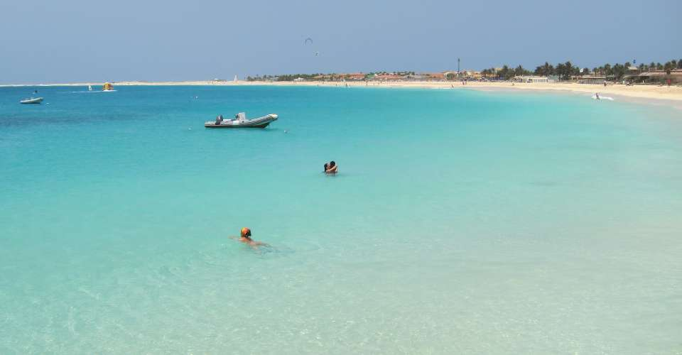 The beautiful warm clear turqoise waters of Cape Verde